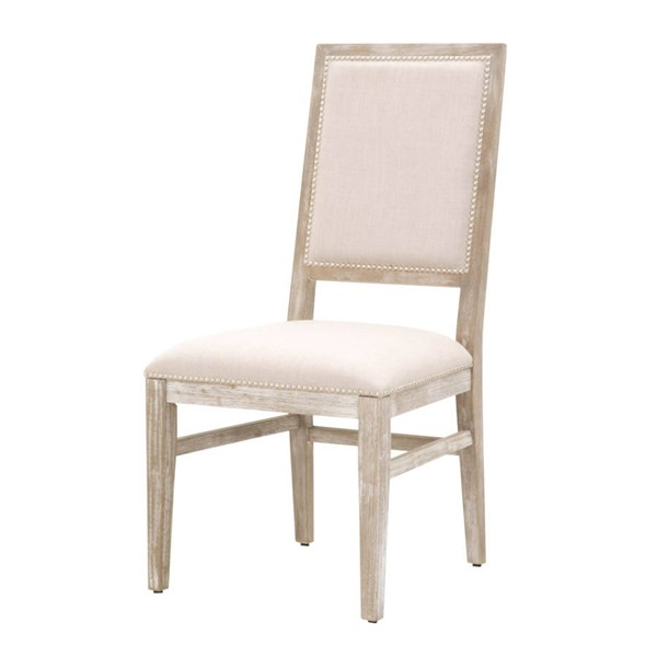 2 Essentials For Living Dexter Stone Dining Chairs EFL-6017-NG-STO-SLV