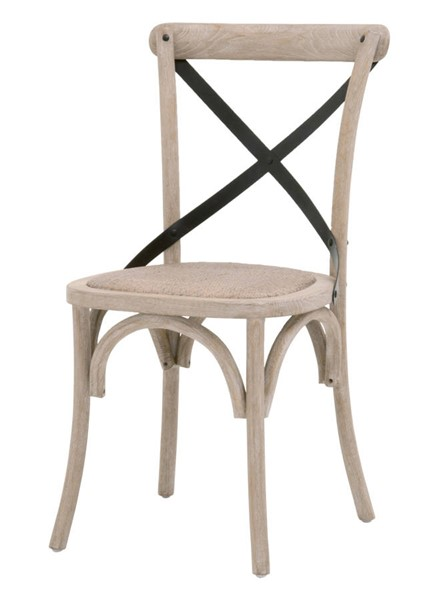 2 Essentials For Living Grove Cane Natural Gray Dining Chairs EFL-8223-CN-NG