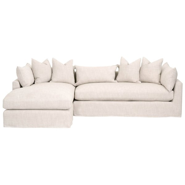 Essentials For Living Haven Bisque Espresso 110 Inch LAF Sectional EFL-6606-LF-BISQ