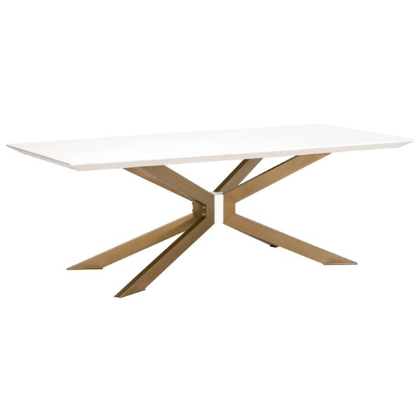 Essentials For Living Ivory Rectangle Dining Table EFL-4630-BRA-IVO