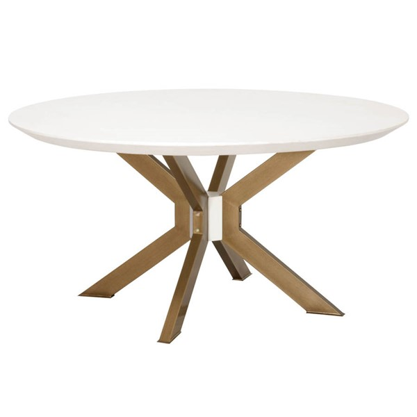 Essentials For Living Ivory Round Dining Table EFL-4632-RD-BRA-IVO