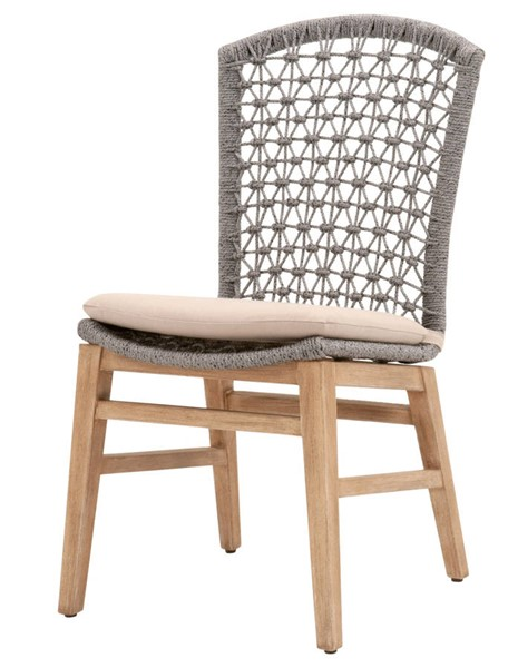 2 Essentials For Living Lace Platinum Light Gray Dining Chairs EFL-6819-PLA-LGRY-NG