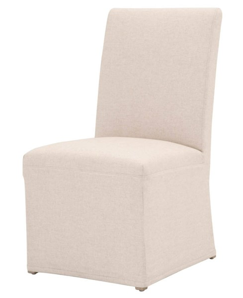 2 Essentials For Living Levi Jute Slipcover Dining Chairs EFL-7096UP-JUT-NGB
