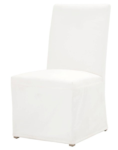 2 Essentials For Living Levi Pearl Slipcover Dining Chairs EFL-7096UP-LPPRL-NGB