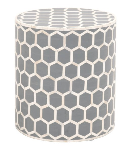 Essentials For Living Link Dark Gray White Small Accent Table EFL-Z-KC500