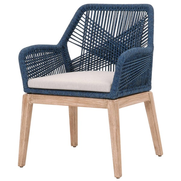 2 Essentials For Living Loom Indigo Rope Arm Chairs EFL-6809KD-IND-PUM-NG
