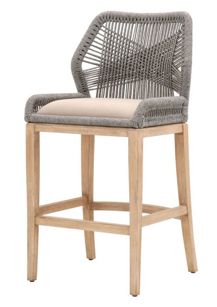 Essentials For Living Loom Platinum Light Gray Barstool EFL-6808BS-PLA-LGRY-NG