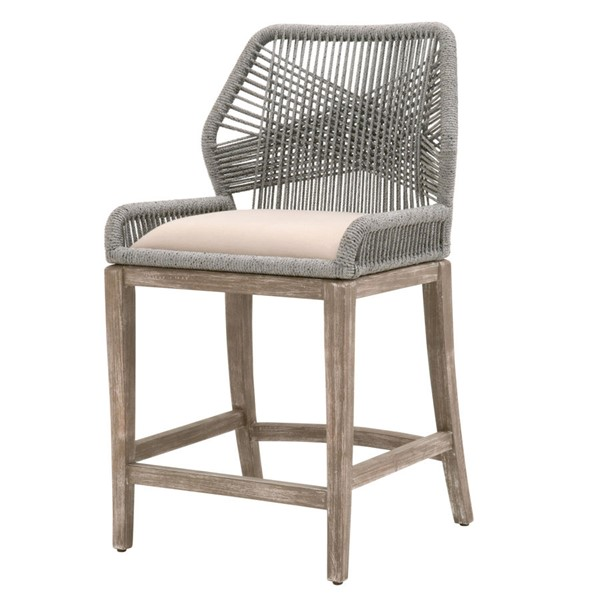 Essentials For Living Loom Platinum Light Gray Counter Stool EFL-6808CS-PLA-LGRY-NG