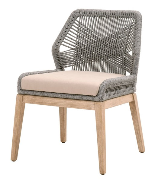 2 Essentials For Living Loom Platinum Light Gray Dining Chairs EFL-6808KD-PLA-FLGRY-NG