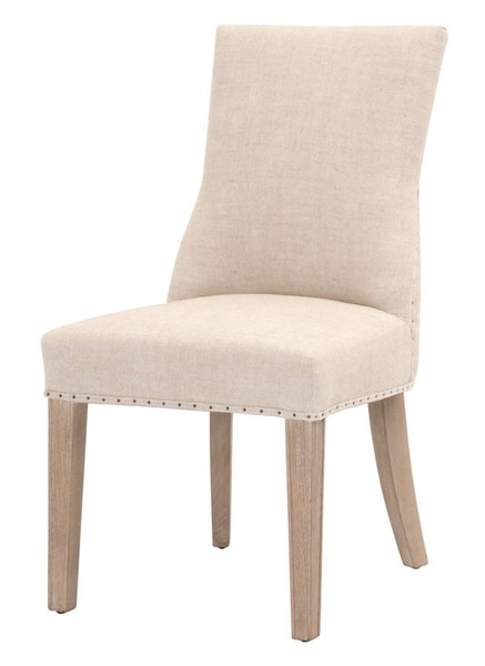 2 Essentials For Living Lourdes Linen Dining Chairs EFL-6416UP-BIS-BT-NG