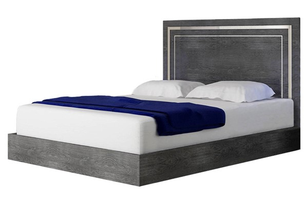 Essentials For Living Noble Grey Birch High Gloss King Bed EFL-RF-2123SM-GBHG