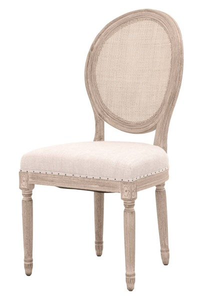 2 Essentials For Living Oliver Linen Dining Chairs EFL-6488UP-CN-NG-BIS