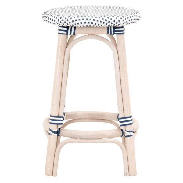 Essentials For Living Paris White Backless Counter Stool EFL-6858CS-WWR-DEN-WHT