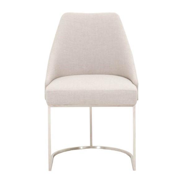 2 Essentials For Living Parissa Silver Dining Chairs EFL-6011-SCSLV-BSTL