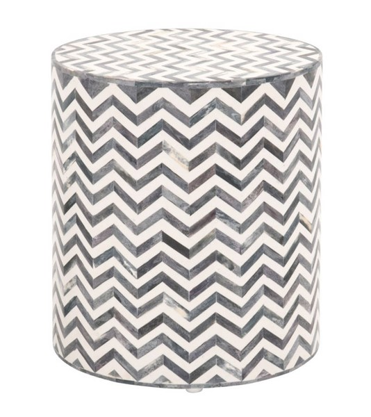 Essentials For Living Peak White Gray Accent Table EFL-Z-KC506