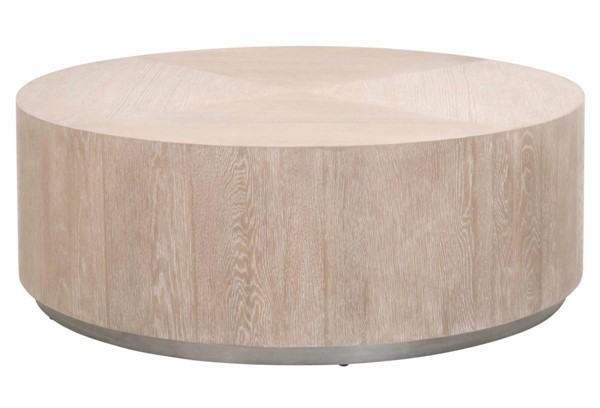 Essentials For Living Roto Natural Gray Large Coffee Table EFL-4608-L-NGO-SLV