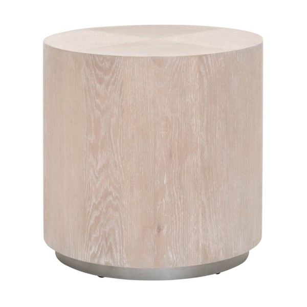 Essentials For Living Roto Natural Gray Large End Table EFL-4609-L-NGO-SLV