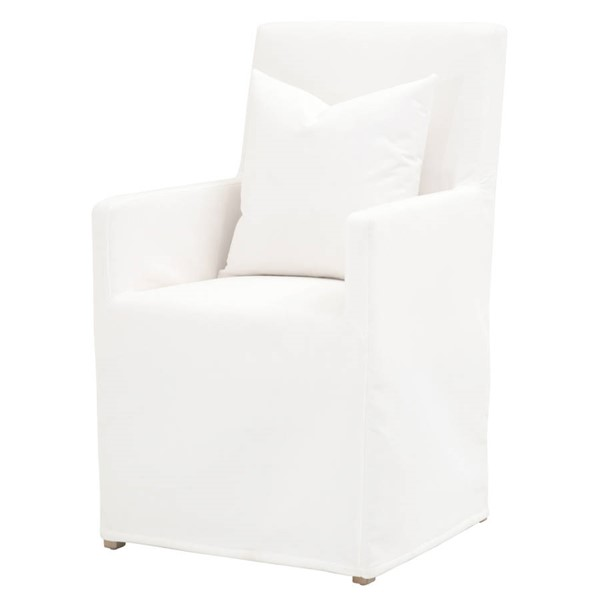 Essentials For Living Shelter Pearl Slipcover Arm Chair EFL-6665-LPPRL-NGB