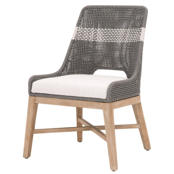 2 Essentials For Living Tapestry Dove White Dining Chairs EFL-6850-DOV-WHT-NG