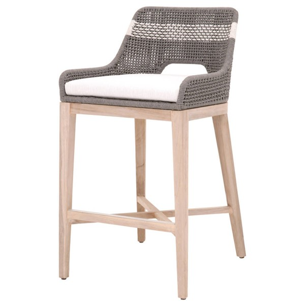 Essentials For Living Tapestry Dove White Outdoor Barstool EFL-6850BS-DOV-WHT-GT