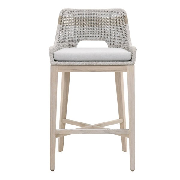 Essentials For Living Tapestry Gray Outdoor Barstool EFL-6850BS-WTA-PUM-GT