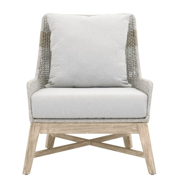 Essentials For Living Tapestry Taupe White Gray Outdoor Club Chair EFL-6851-WTA-PUM-GT