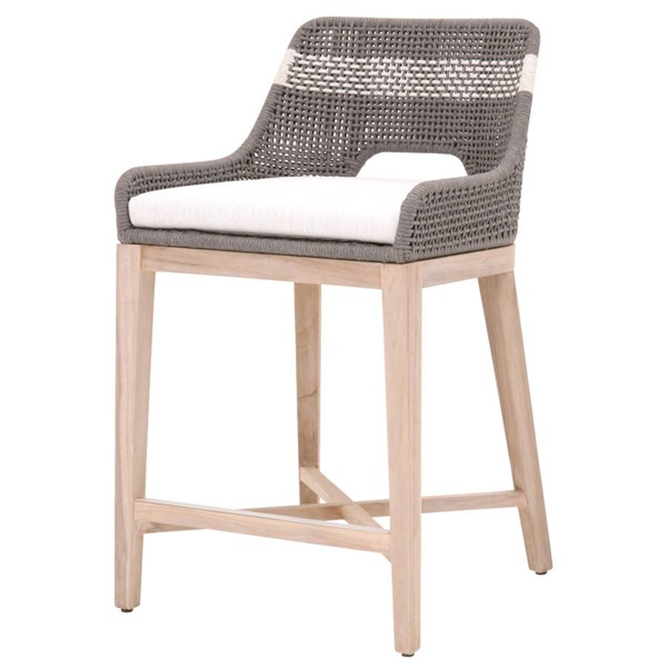 Essentials For Living Tapestry Dove White Outdoor Counter Stool EFL-6850CS-DOV-WHT-GT