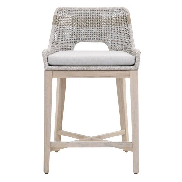 Essentials For Living Tapestry Gray Outdoor Counter Stool EFL-6850CS-WTA-PUM-GT