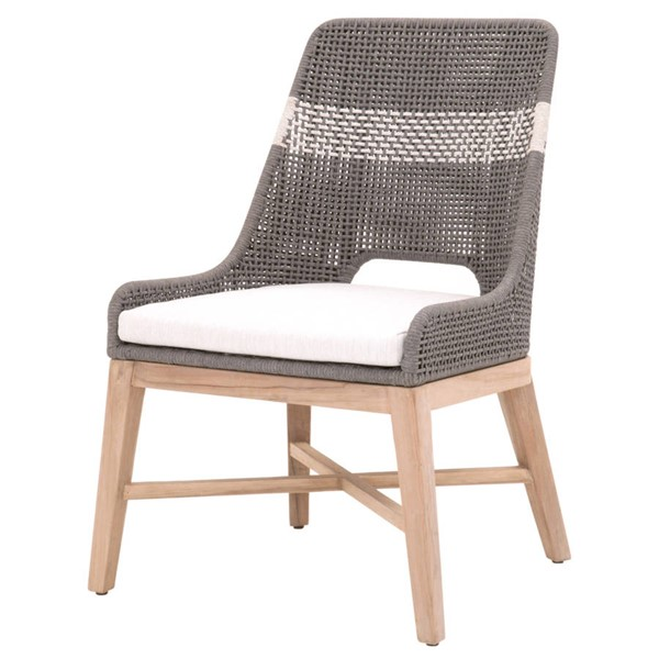 2 Essentials For Living Tapestry Dove White Outdoor Dining Chairs EFL-6850-DOV-WHT-GT