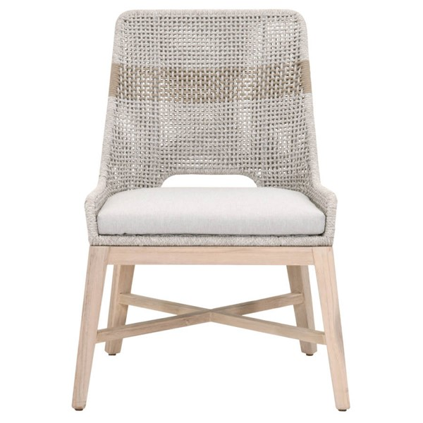 2 Essentials For Living Tapestry Gray Outdoor Dining Chairs EFL-6850-WTA-PUM-GT
