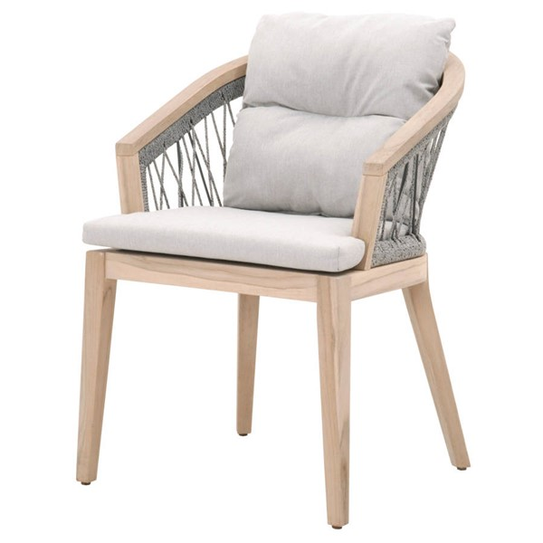 Essentials For Living Web Platinum Outdoor Arm Chair EFL-6820-PLA-PUM-GT