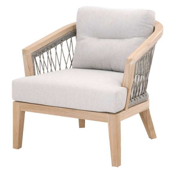 Essentials For Living Web Taupe White Outdoor Club Chair EFL-6821-WTA-PUM-GT