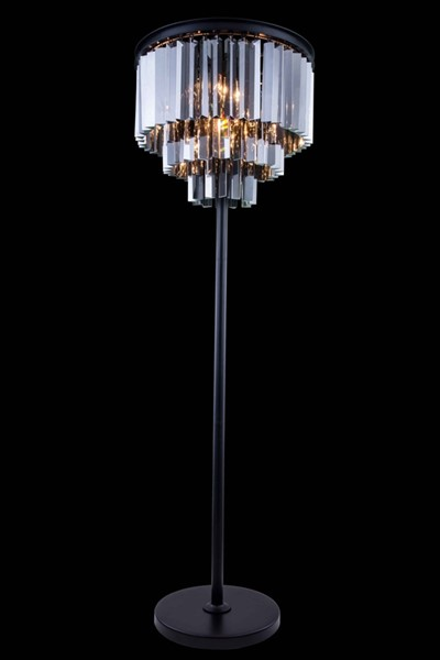 Elegant Decor Sydney 8 Light Silver Royal Crystal Floor Lamps ELED-1201FL20-SS-RC-LMP-VAR