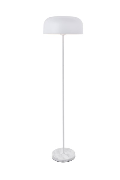 Elegant Decor Exemplar White 1 Light Floor Lamp ELED-LD4070F16WH