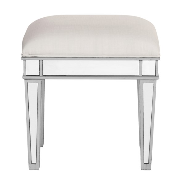 Elegant Decor Contempo Hand Rubbed Silver Backless Chair ELED-MF6-1007S