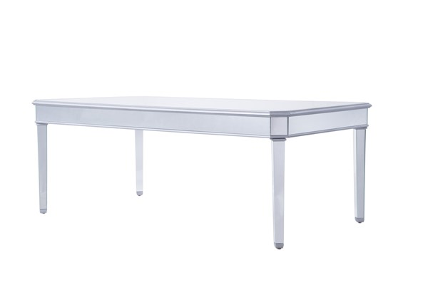 Elegant Decor Contempo Hand Rubbed Silver Dining Table ELED-MF6-1038S