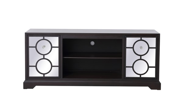 Elegant Decor Modern Dark Walnut 60 Inch TV Stand ELED-MF802DT