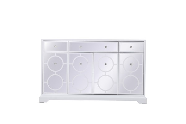 Elegant Decor Modern White 60 Inch Mirrored Credenza ELED-MF81001WH