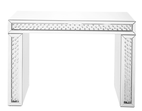 Elegant Decor Modern Clear 43.5 Inch Rectangle Console Table ELED-MF91001