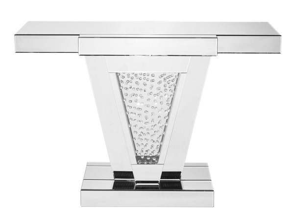 Elegant Decor Modern Clear Crystal 47 Inch Rectangle Console Table ELED-MF91014