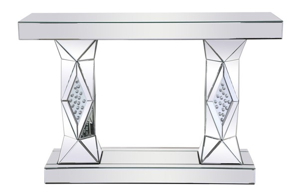 Elegant Decor Modern Clear 47 Inch Rectangle Crystal Console Table ELED-MF92019