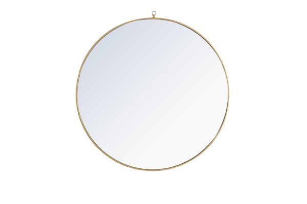 Elegant Decor Eternity Brass Decorative Hook 42 Inch Round Mirror ELED-MR4065BR