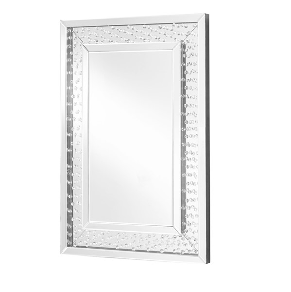 Elegant Decor Sparkle Clear 24 Inch Rectangle Mirror ELED-MR9101