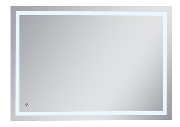 Elegant Decor Helios Silver 42 x 60 Hardwired LED Mirror ELED-MRE14260