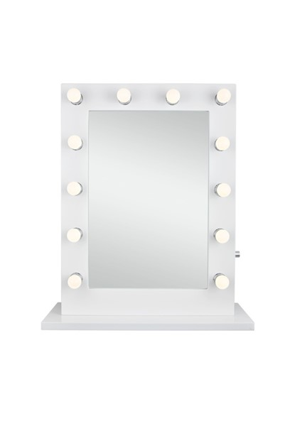 Elegant Decor Hollywood White Warm LED 27.5 x 32.5 Vanity Mirror ELED-MRE8503K
