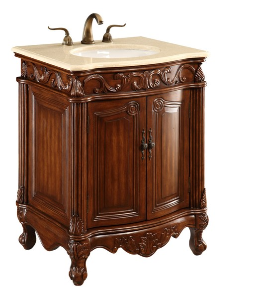 Elegant Decor Danville Brown 27 Inch Single Bathroom Vanity Set ELED-VF-1007