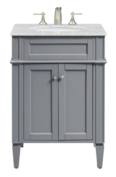 Elegant Decor Park Avenue Grey 24 Inch Single Bathroom Vanity Set ELED-VF-1027
