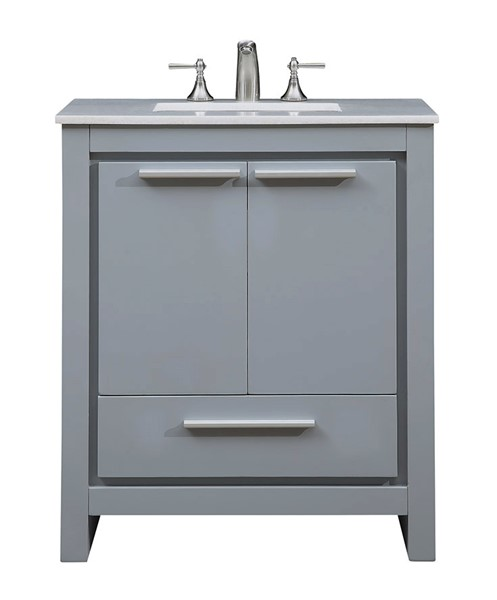 Elegant Decor Filipo Grey 30 Inch Single Bathroom Vanity Set ELED-VF-1028