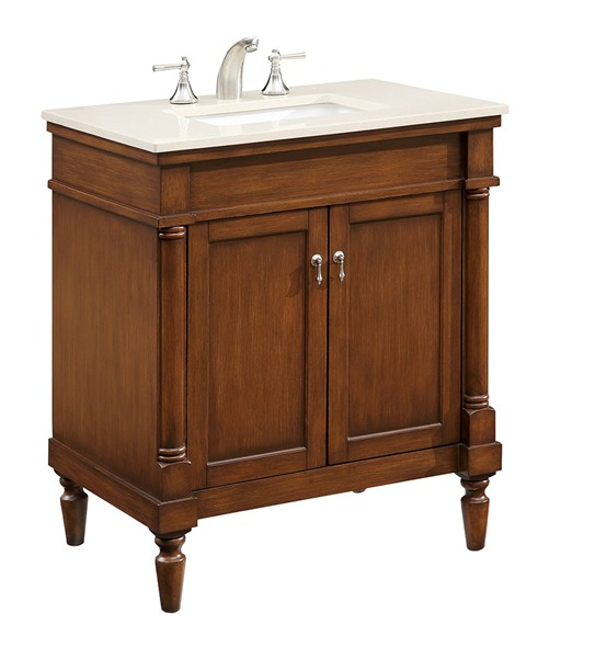 Elegant Decor Lexington Brown 30 Inch Single Bathroom Vanity Set ELED-VF-1030