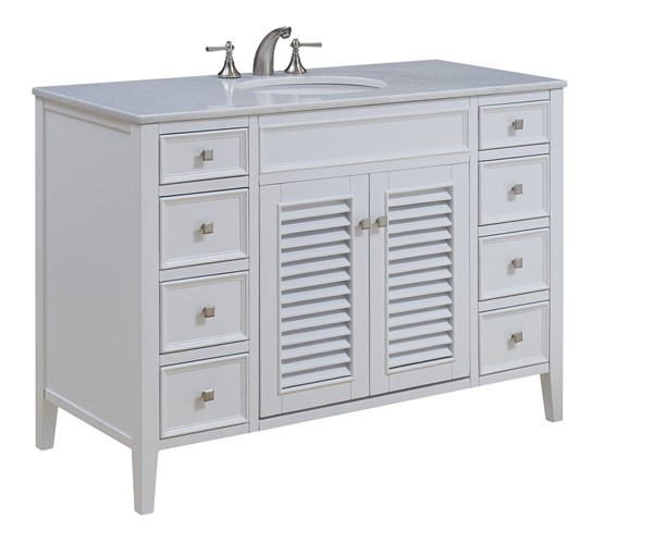 Elegant Decor Cape Cod 48 Inch Single Bathroom Vanity Sets ELED-VF-104-BA-VAR